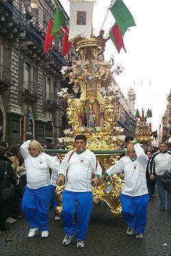 Catania Festa S.Agata CANDELORA