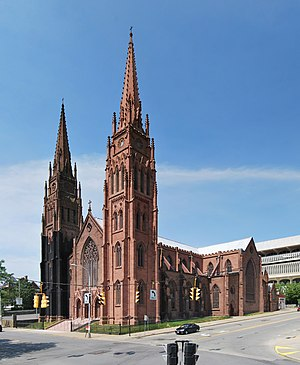 Cathedral of the Immaculate Conception (Albany, New York) - Image: Cathedral of the Immaculate Conception Panorama 1