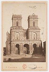 Photographie de la restauration de la tour nord de la cathédrale d'Auch
