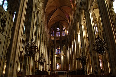 Cathedrale bourges interieur