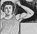 Catherine Ray flexes a bicep (1903).jpg