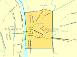 Frenchtown, New Jersey - Image: Census Bureau map of Frenchtown, New Jersey