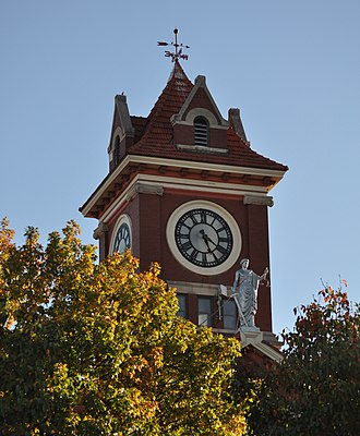 Butler County Courthouse (Kansas) - Image: Central Clock Tower