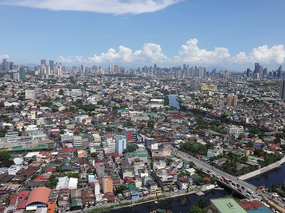 Central Metro Manila area with Ortigas, BGC and Makati skyline - aerial view (from Mezza 2) (Manila)(2018-05-12)