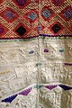 Ceremonial huipil, Kakchiquel Maya, San Lucia Utatlan, c. 1930s-1940s, view 2, silk, handspun cotton, commercial tulle - Textile Museum of Canada - DSC01069.JPG