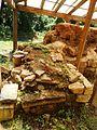 Cetatea dacică de la Tilişca, ruine turn. 08.jpg