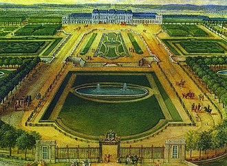 Château de Chanteloup - View from the north in 1767