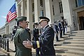 Chairman of the Joint Chiefs of Staff U.S. Army Gen. Martin E. Dempsey, right foreground, welcomes Chief of Staff of the Armed Forces of the Philippines Gen. Emmanuel Bautista to the Pentagon in Arlington, Va 130822-D-HU462-024.jpg