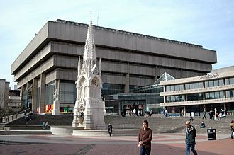 Paradise, Birmingham - Chamberlain Square and Central Library at the centre of Paradise Circus (Now Demolished)