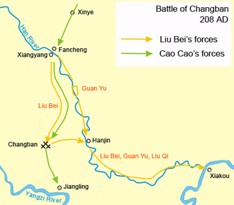 Battle of Changban - Map of the battle