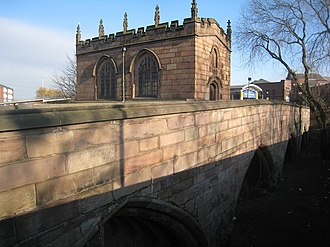 Bridge chapel - The Chapel of Our Lady of Rotherham Bridge in South Yorkshire.
