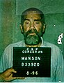 Charlees Milles Manson 1996-08 courtesy of Corcoran - booking number 033920 public domain CA.jpg