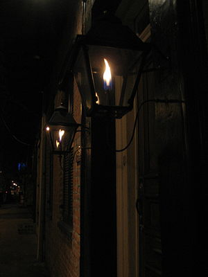 Fuel gas - 19th-century style gas lights in New Orleans