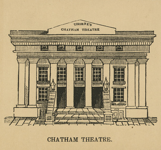 Chatham Garden Theatre - The only known image of the Chatham Garden Theatre's exterior