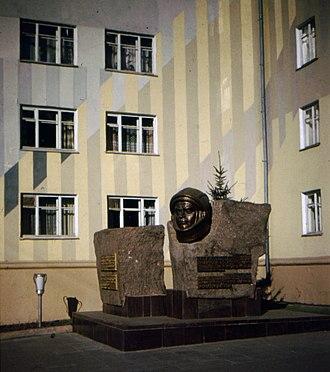 Andriyan Nikolayev - Image: Cheboksary. Monument to Andriyan Nikolayev, Soviet cosmonaut