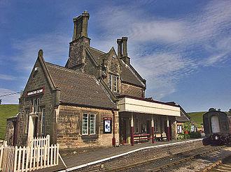 Churnet Valley Railway - Cheddleton station: the Churnet Valley Railway's first acquisition in 1976.