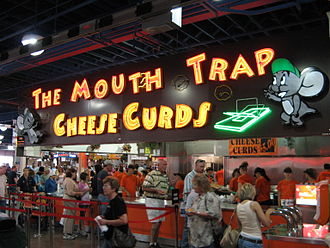 Minnesota State Fair - A stand selling cheese curds