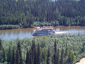 Chena River - A paddle-wheel steamer on the Chena River near Fairbanks