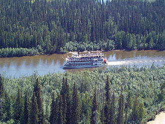 Chena River - A paddle-wheel steamer on the Chena River near Fairbanks