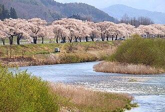 Sarugaishi River - The Sarugaishi in Tōno in spring