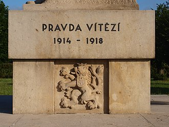 Truth prevails - Image: Chestres FR 08 monument tchécoslovaque 05