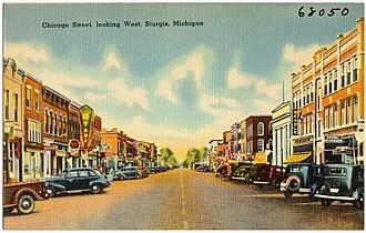 Sturgis, Michigan - Image: Chicago Street, looking west, Sturgis, Michigan (68050)