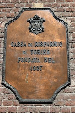 Cassa di Risparmio di Torino - A crest on the wall of a branch in Chieri, in the Province of Turin