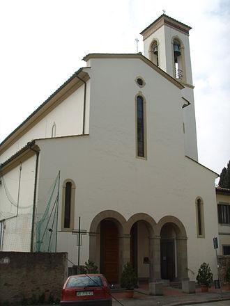 Coverciano - The nearby church of Santa Maria a Coverciano