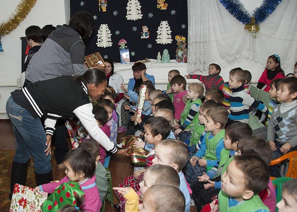 Children at the Belovodski Preschool Orphanage in Karabalta