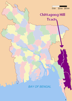 The Chittagong Hill Tracts in Bangladesh