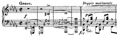 The opening measures of Chopin's Piano Sonata No. 2