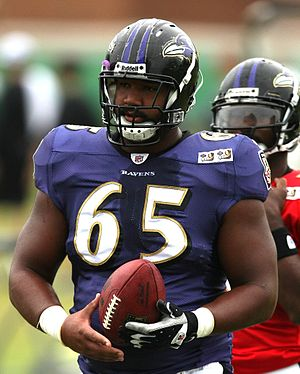 Chris Chester (American football) - Chester in 2009 while on the Baltimore Ravens.