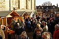 Christmas market next to Winchester Cathedral - geograph.org.uk - 636529.jpg