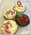 Christmas motifs decorated cupcakes in Australia 02.jpg