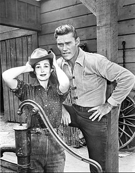 Chuck Connors Joan Taylor The Rifleman 1960.JPG