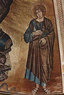 San Juan evangelista, mosaico en el ábside de la catedral de Pisa