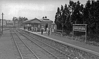 Severn and Wye Railway - Cinderford station, 1950