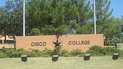 Cisco College sign, Cisco, TX IMG 6392.JPG