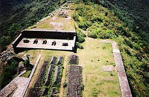 Citadelle Laferrière - Cannonball stockpiles, viewed from the roof