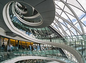 City Hall, London - The interior helical staircase of London City Hall