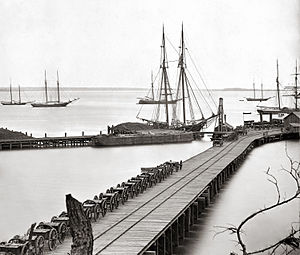 City Point, Virginia - The waterfront of City Point, Virginia (present-day Hopewell) during the winter of 1864-1865