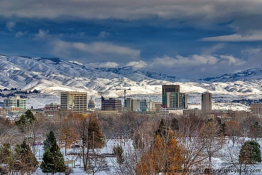 City of Boise Idaho Winter