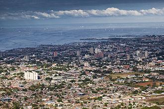 Ciudad Ojeda - Panorama view of downtown San Matias area and Lake Maracaibo