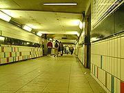 The subway at Clapham Junction at night