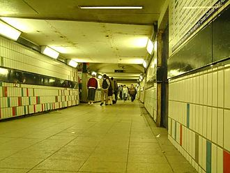 Clapham Junction railway station - The subway at Clapham Junction during night.