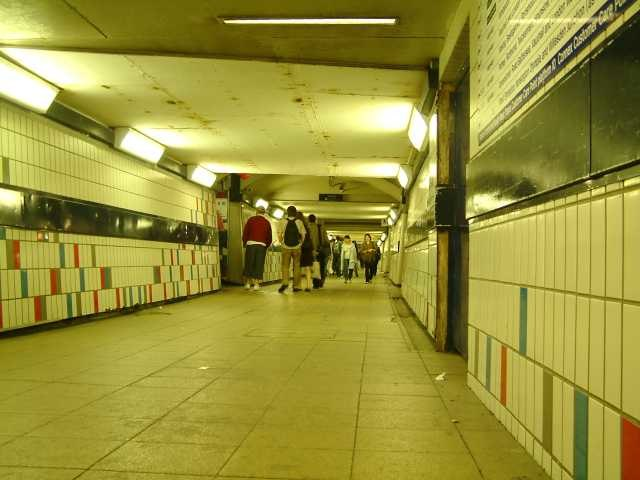 Clapham Junction Railway Station - Foot Tunnel at Night - London - 240404