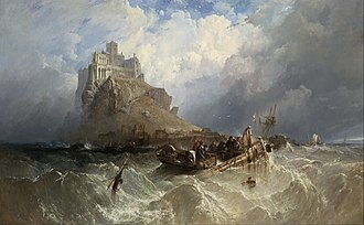 Clarkson Frederick Stanfield - Mount St Michael, Cornwall