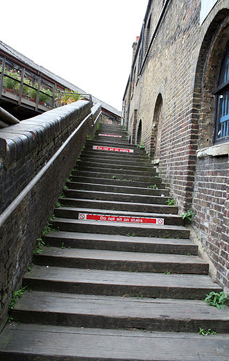 The Clash (album) - The stairway where the Clash posed for the cover photo in 2008