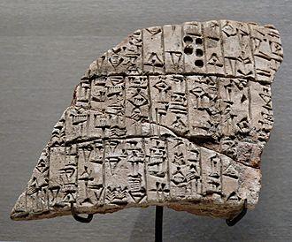 Urukagina - Image: Clay cone Urukagina Louvre AO4598ab