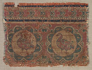 Silk fragment with roundels of ducks